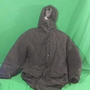 Eddie Bauer S black hoodie puffer jacket
